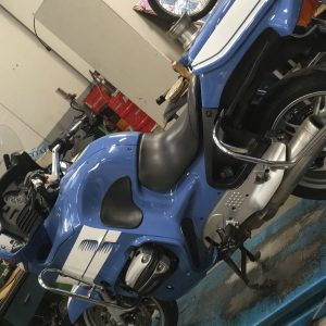 Restyling completo BMW R1150 RT da normale a replica della Polizia di Stato Italiana Officina Moto Firenze Toscana Italia